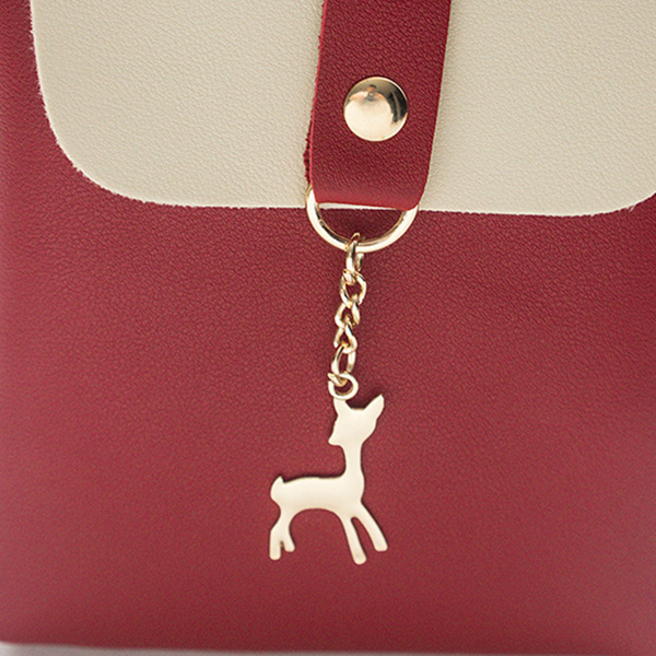 Duo Contrast Deer Chain Shoulder Bags