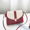 Duo Contrast String Strapped Shoulder Bags - Burgundy