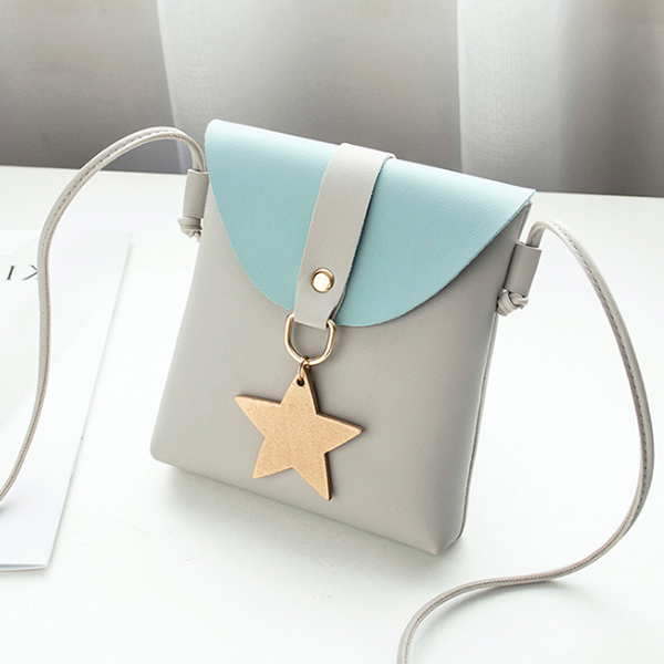 Star Hanging PU Leather Vertical Bags