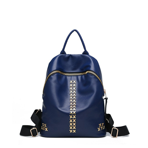 Korean Women Casual Latest Fashion Backpack Blue