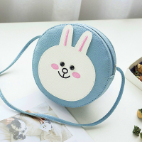 Round Shaped Rabbit Patch Shoulder Bags