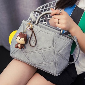 2016 Autumn New Korean Fashion Handbags Messenger Bag Gray