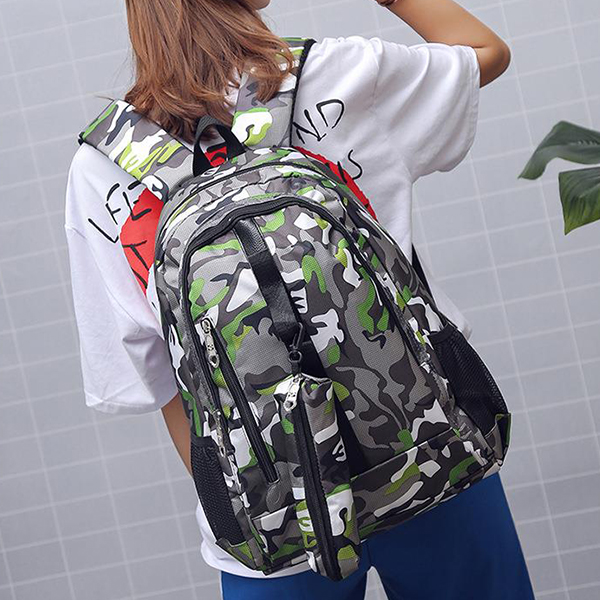 Printed Traveler Special Camouflage Backpack - Green