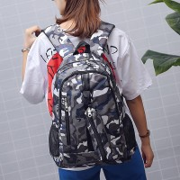 Printed Traveler Special Camouflage Backpack - Blue