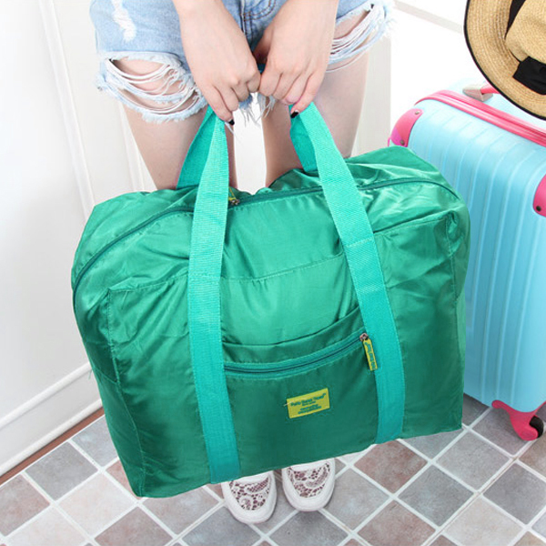Square Wide Capacity Canvas Traveller Bags - Green