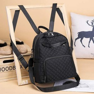 Plain Zipper Canvas Mini Backpacks