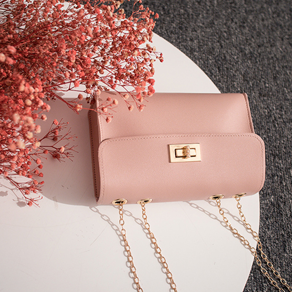 Designers Striped Contrast Messenger Bags - Pink