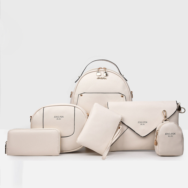 Casual Versatile Women Six Bags Set White