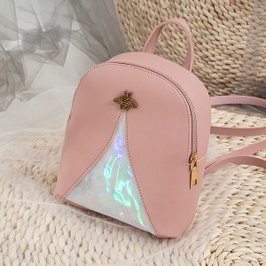Holographic Contrast Bug Mini Shoulder Bags - Pink