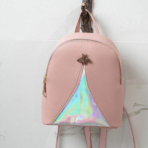 Holographic Contrast Bug Mini Shoulder Bags - Grey