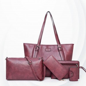 Luxurious Quality Five Pieces Formal Bags Set - Purple