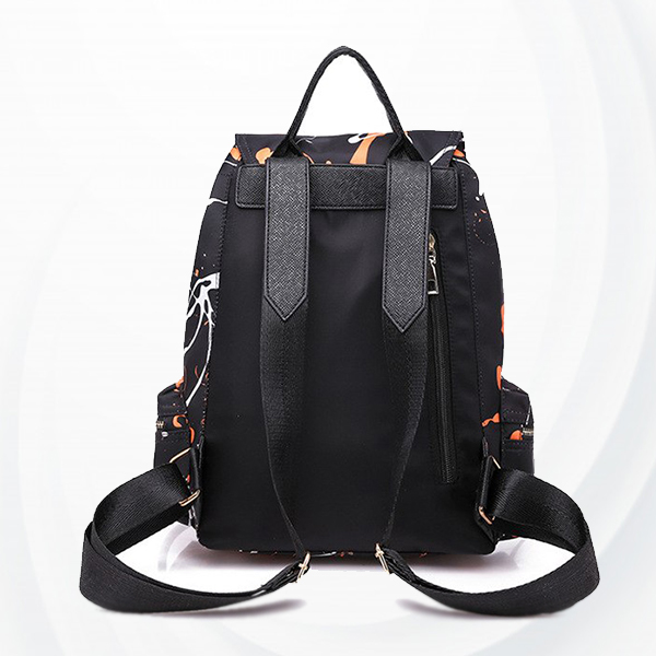 Two Pieces Scratch Pattern Buckle Backpacks - Blue