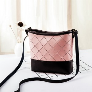 Patch Texture Strapped Messenger Bags - Pink