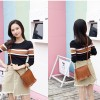 Decorated Tassel PU Leather Messenger Bags - Brown