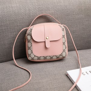Magnetic Lock Designers Mini Shoulder Bags - Pink