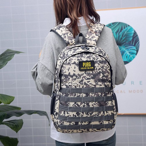 Camouflage Prints Traveler Casual Backpacks - Grey