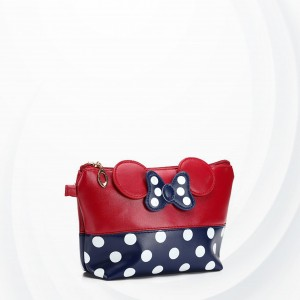 Polka Dots Micky Synthetic Leather Wristlet - Red
