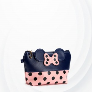 Polka Dots Micky Synthetic Leather Wristlet - Blue
