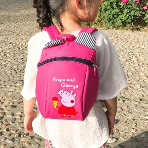 Cartoon Design Backpack Nylon Casual School Bags - Pink