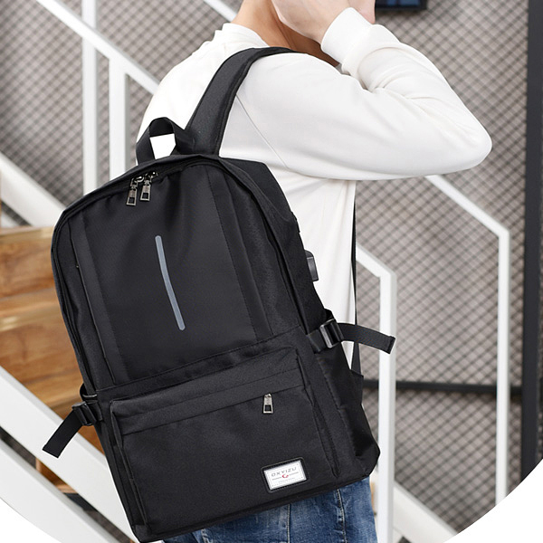 Duo Contrast Multifunction Black Travel Backpack