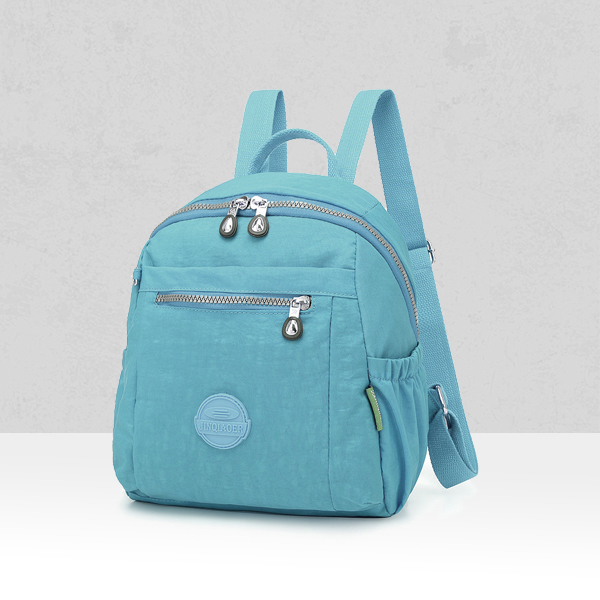 Multi Zipper Pockets Mini Canvas Backpacks - Green