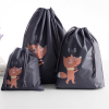 Three Printed Animal Traveller Storage Bags - Grey