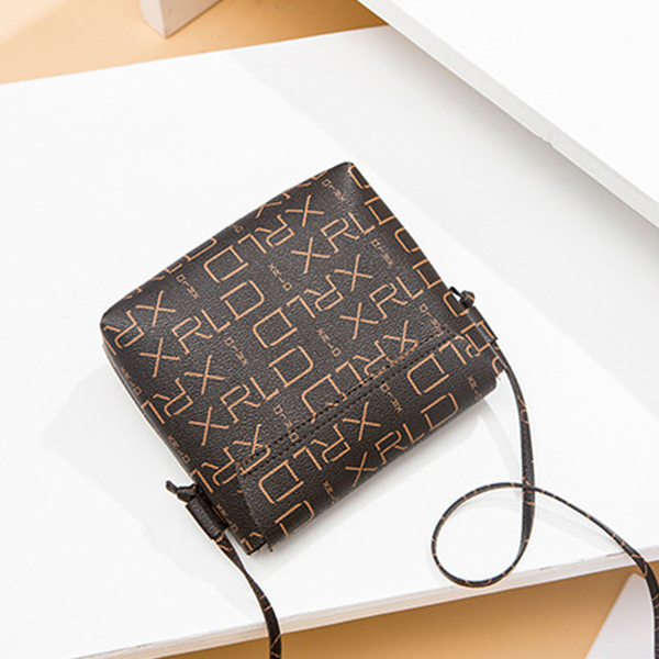 Alphabetical Prints Bullet Lock Messenger Bags