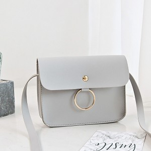 Ring Hanging Envelope Strap Messenger Bags - Grey