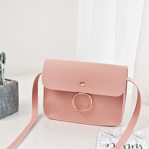 Ring Hanging Envelope Strap Messenger Bags - Pink