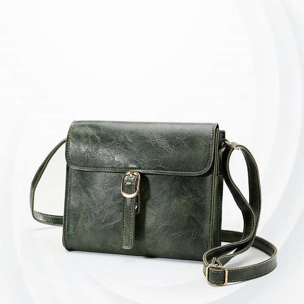 Buckle Style Magnetic Square Messenger Bags - Green