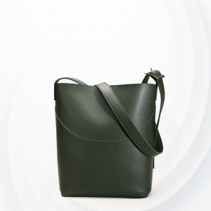Magnetic Closure Wide Space Bucket Bags - Green