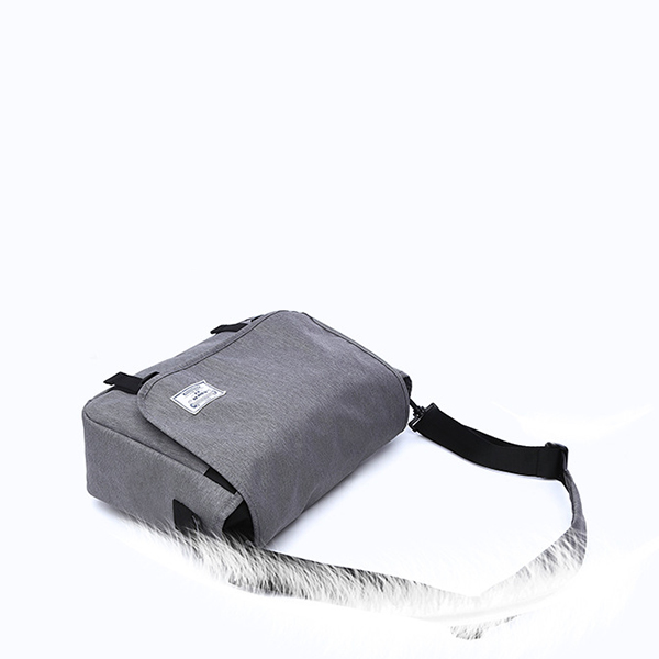 Grey Wide Space Traveller Shoulder Bag