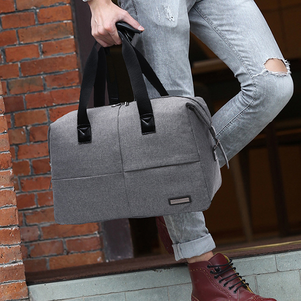 Quality Black Canvas Large Traveller Bag