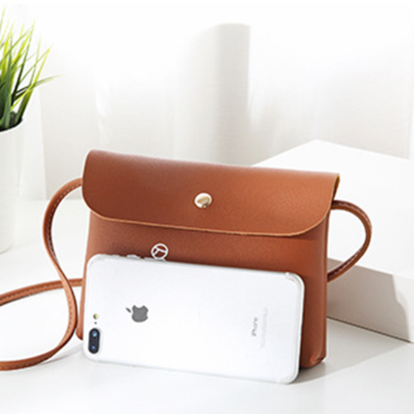 Magnetic Closure Printed Zipper Messenger Bags