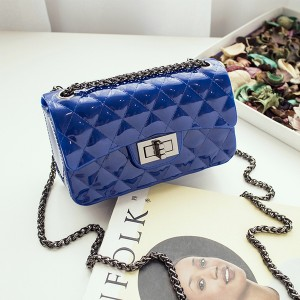 Trunk Lock Chain Strapped Party Bags - Blue