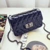 Trunk Lock Chain Strapped Party Bags - Dark Blue