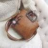 Retro Brown PU Leather High Quality Messenger Bag
