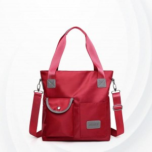 Square Soft Polyester Canvas Ladies Shoulder Bag - Red