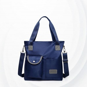 Square Soft Polyester Canvas Ladies Shoulder Bag - Blue