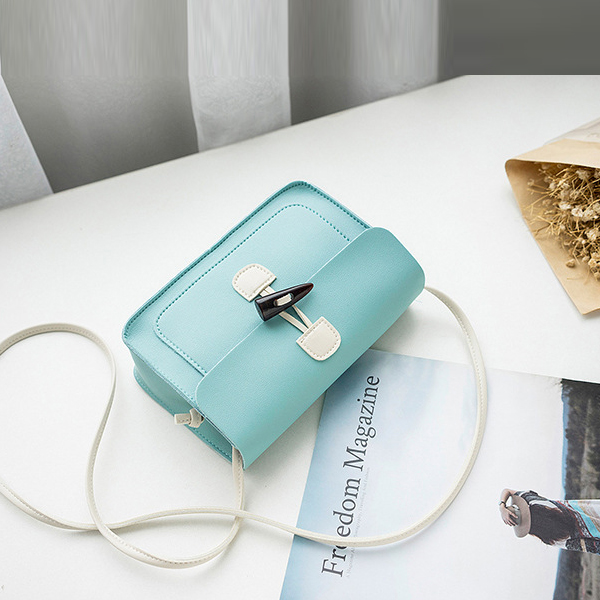 Fancy Tooth Closure Messenger Bags - Blue