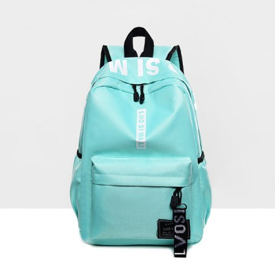 Casual Sports Canvas Travel Backpack - Sea Green