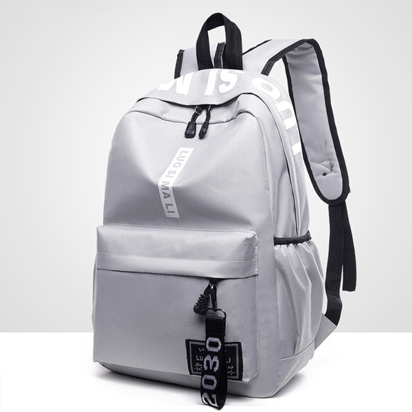 Casual Sports Canvas Travel Backpack - Black