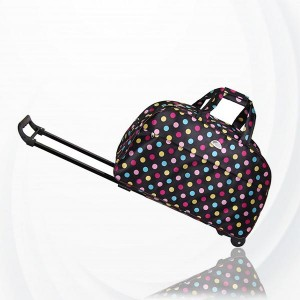 Metal Trolley Large Capacity Waterproof Travel Bag - Multi Color