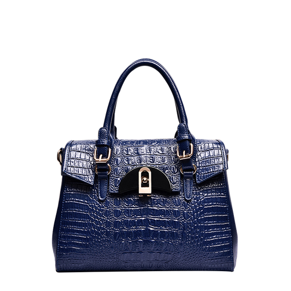 Crocodile Pattern High-Quality Shoulder Bag Blue in Dubai