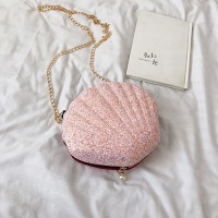 Zipper Closure Sea Shell Shaped Bags - Pink