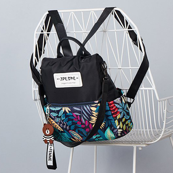 Summer Special Contrast Print Zipper Mini Backpack