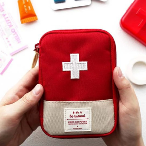 Portable Traveller Mini First Aid Pouch Bags - Red