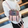Multicolored PU Leather Party Shoulder Bags - Pink