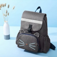 Two Pieces Canvas Casual Backpacks Set - Grey