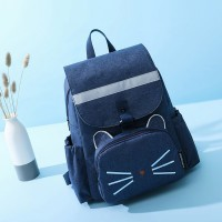 Two Pieces Canvas Casual Backpacks Set - Blue